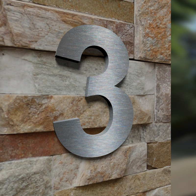 tuerklingel shop24 edelstahl hausnummer 3. Black Bedroom Furniture Sets. Home Design Ideas